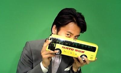 観光バスのおもちゃ