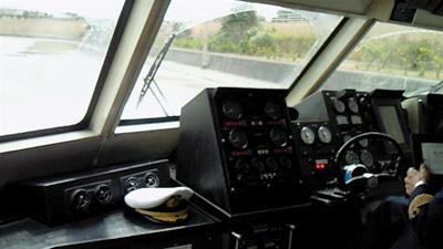 ホバークラフト操縦席