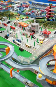 トミカで作った大きな街