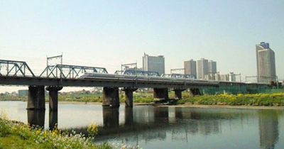 多摩川の鉄橋